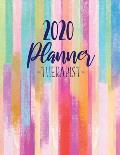 2020 Therapist Planner: Daily Appointment Planner With 15 Minute Increment - Monthly Goal Setting - Contacts - Password Organizer