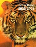Two Year Planner 2020-2021: Tiger Monthly Planner 8.5 x 11