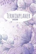 Terminplaner 2020: Jahresplaner von September 2019 bis Dezember 2020 mit Wasserfarben Blumen Muster Planer mit 174 Seiten in wei? im Form