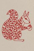 Notes: A Blank Dot Grid Notebook with Red Squirrel Papercut Cover Art