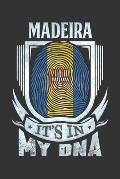 Madeira It's In My DNA: Madeiran Thumbprint Flag Diary Planner Notebook Journal 6x9 Personalized Customized Gift For Patriotic Madeiran With t