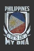 Philippines It's In My DNA: Filipino Thumbprint Flag Diary Planner Notebook Journal 6x9 Personalized Customized Gift For Patriotic Filipino With t