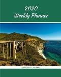 2020 Weekly Planner: Pacific Coast Highway; January 1, 2020 - December 31, 2020; 8 x 10