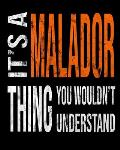 It's A Malador Thing You Wouldn't Understand: Mixed Dog Breed Notebook 2020 Monthly Planner Dated Journal 8 x 10 110 pages