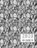 2020 Planner: Stylish Abstract Design Diary For Men With Additional Lined Monthly Notes, Online Password Logs & Habit Trackers