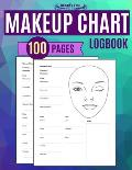 Makeup Chart Logbook 100 Pages