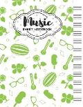 Music Sheet Notebook: Blank Staff Manuscript Paper with Summer Themed Cover Design