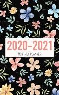 2020-2021 Monthly Planner: Floral Design - Two Year Calendar 5x8 - 2 Year Pocket Planner 5x8 inches Jan 2020 to Dec 2021 with Phone Book - Person
