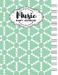 Music Sheet Notebook: Blank Staff Manuscript Paper with Unique Geometric Themed Cover Design