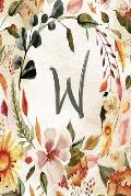 W: Orange Brown Floral 2020 Weekly Planner 6x9