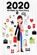 2020 A5 Week to View Diary: 6 x 9 - 52 Pages