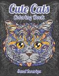 Cute Cats: Stress Relieving Designs Coloring Book