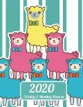 2020 Weekly & Monthly Planner: Llama Dated Weekly Planner - Time Management - Increase Productivity - Weekly Agenda - 8.5 x 11 Organizer & Diary -