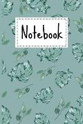 Notebook: Tropical Palm Leaves Theme Cover Lined Notebook For Taking notes & Ideas - Gifts For Tropical Palm Leaf & Spring Lover