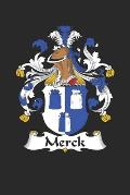 Merck: Merck Coat of Arms and Family Crest Notebook Journal (6 x 9 - 100 pages)