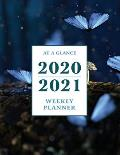 At a Glance 2020-2021 Weekly Planner: Nighttime Butterflies 2 Year / 24 Month Planner for Desk - Jan 2020 - Dec 2021 Calendar Size: 8.5 x 11
