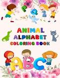 Animal Alphabet Coloring Book: Alphabet Coloring Book, Fun Coloring Books for Toddlers & Kids. Pre-Writing, Pre-Reading And Drawing, Total - 180 Page