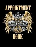 Tattoo Artist Appointment Book: Large Gothic Style Tattoo Daily Appointment Scheduler and Planner - 120 Pages, 3 Column and 15 Minute Increments - Tat
