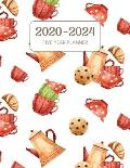 2020-2024 Five Year Planner: Monthly Agenda & Schedule with US Holidays - 60 Months or 5 Years - I Love Tea Time