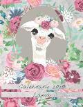 Calendario 2020 Lama: Mensile 2020 Calendario Lama illustrato con grandi immagini e date del calendario, spazi per registrare entrate, uscit