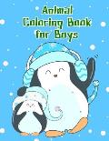 Animal Coloring Book for Boys: A Funny Coloring Pages for Animal Lovers for Stress Relief & Relaxation