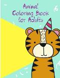 Animal Coloring Book for Adults: Cute Forest Wildlife Animals and Funny Activity for Kids's Creativity