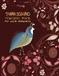 Coloring books for adults relaxation thanksgiving: Large Print Thanksgiving Coloring Book For Kids Age 4-8, Amazing Gift For Kids At Thanksgiving Day