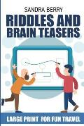Riddles and Brain Teasers: Gyokuseki Puzzles - Large Print for Fun Travel