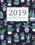 2019 Weekly Planner: Daily Weekly Monthly Calendar Planner 12 Months Jan - Dec 2019 for Academic Agenda Schedule Organizer Logbook and Jour