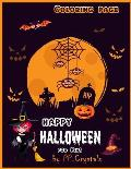 Happy Halloween Coloring Page for Kids