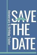 Save the Date: Anniversary & Birthday Tracker Green Mustache