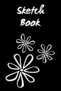 Sketch Book: Floral; 6 X 9; 100 Sheets/200 Pages
