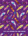2019-2023 Feathers Five Year Planner: 60 Months Planner and Calendar - Goals and Productivity Planner for Setting Goals and Crushing It