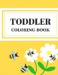 Toddler Coloring Book: Alphabet Numbers Shapes Childhood Learning, Preschool Activity Book 68 Pages Size 8.5x11 Inch for Kids Ages 3-6