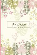 5-Minute Journal: 150 Days of Daily Gratitude & Affirmation, Self-Help Productivity Planner Notebook With Quotes To Ponder For Adults An