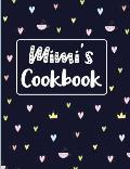 Mimi's Cookbook: Navy Blank Lined Journal