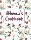 Mema's Cookbook: Floral Blank Lined Journal