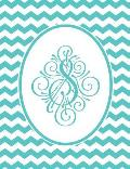 Journal: S Monogram Blue and White Chevron Notebook