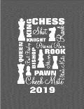 Chess Players Daily Diary - Planner 2019: Chess Terminology Typography
