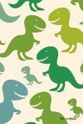 Trex Notebook: Dinosaur Journal for Kids to Write in (Boys and Girls Series)