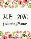 Two Year 2019-2020 Calendar Planner: Two Year - Daily Weekly Monthly Calendar Planner 24 Months January 2019 - December 2020 Watercolor Floral Design