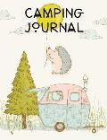 Camping Journal: Camping RV Trailer Journal Record Tracker Blank Lined Notebook