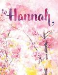 Hannah: Personalized Journal - A Pink Cherry Blossom Diary