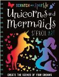 Scratch and Sparkle Mermaids/Unicorns Stencil Art