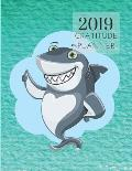 2019 Sharks Gratitude Journal Daily Planner: Academic Hourly Organizer in 15 Minute Interval; Appointment Calendar with Address Book; Monthly & Weekly