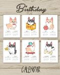 Birthday Calendar: Perpetual Calendar Record All Your Important Dates Date Keeper Christmas Card List for Birthdays Anniversaries & Celeb