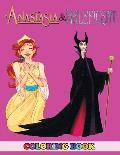 Anastasia and Maleficent Coloring Book: 2 in 1 Coloring Book for Kids and Adults, Activity Book, Great Starter Book for Children with Fun, Easy, and R