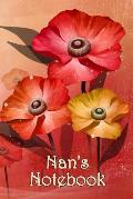 Nan's Notebook: Bespoke, personalised notebook. Contact us if you would like your own image, name or other text on a book.