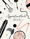 Appointment book for salon: 52 Weeks Daily Planner Organizer 15-Minute Increments, Hourly Schedule Notebook for Salons, Spas, Hair Stylist, Beauty