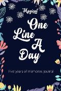 Magical One Line a Day: Five Years of Memories Journal
